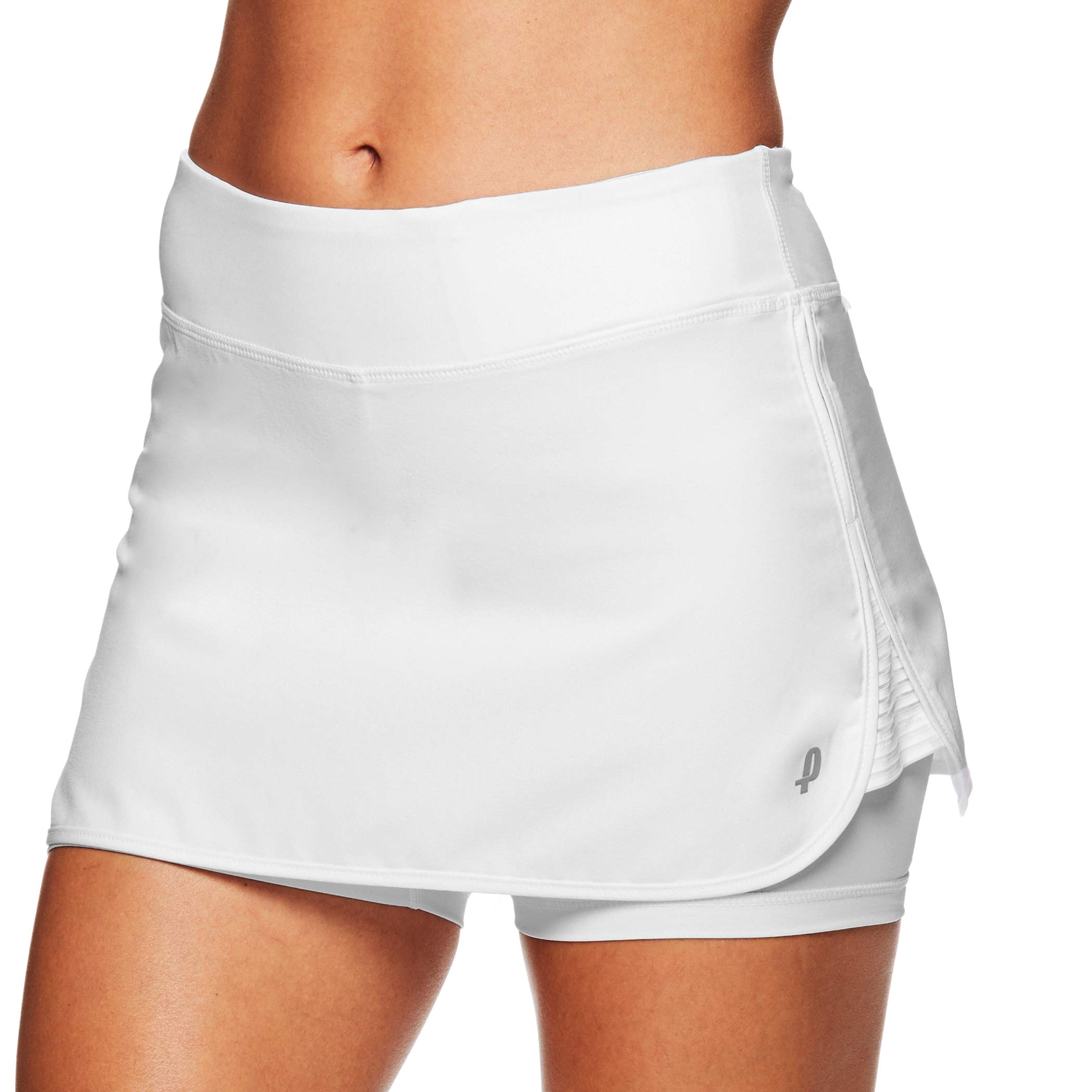 Penn Women's Active Skorts: Wide Band, Low Rise Tennis or Golf Skirt with Shorts,Stark White,X-Small