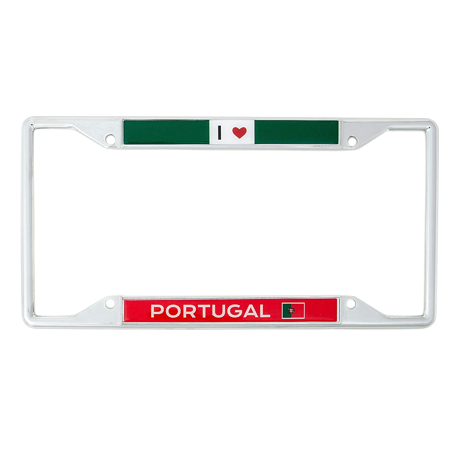 Desert Cactus Country of Portugal I Heart Love License Plate Frame for Front Back of Car Vehicle Truck Portuguese