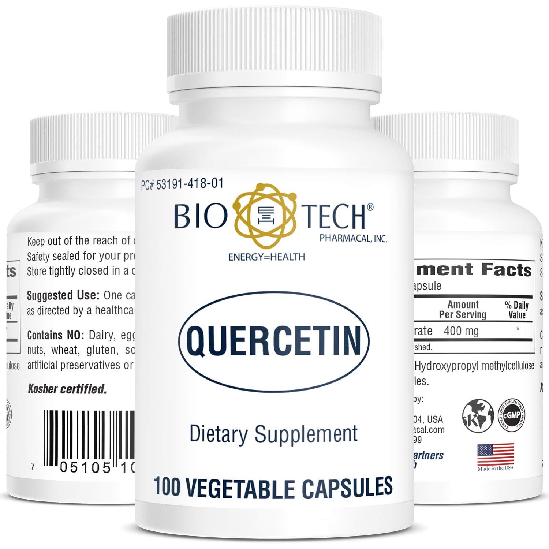 Quercetin - 100 Capsules by Bio-Tech Pharmacal by BIO E=H TECH PHARMACAL, INC. ENERGY = HEALTH