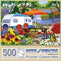 "Bits and Pieces - 500 Piece Jigsaw Puzzle for Adults 18"" X 24"" - The Old Campground - 500 pc Jigsaws by Artist Nancy…"
