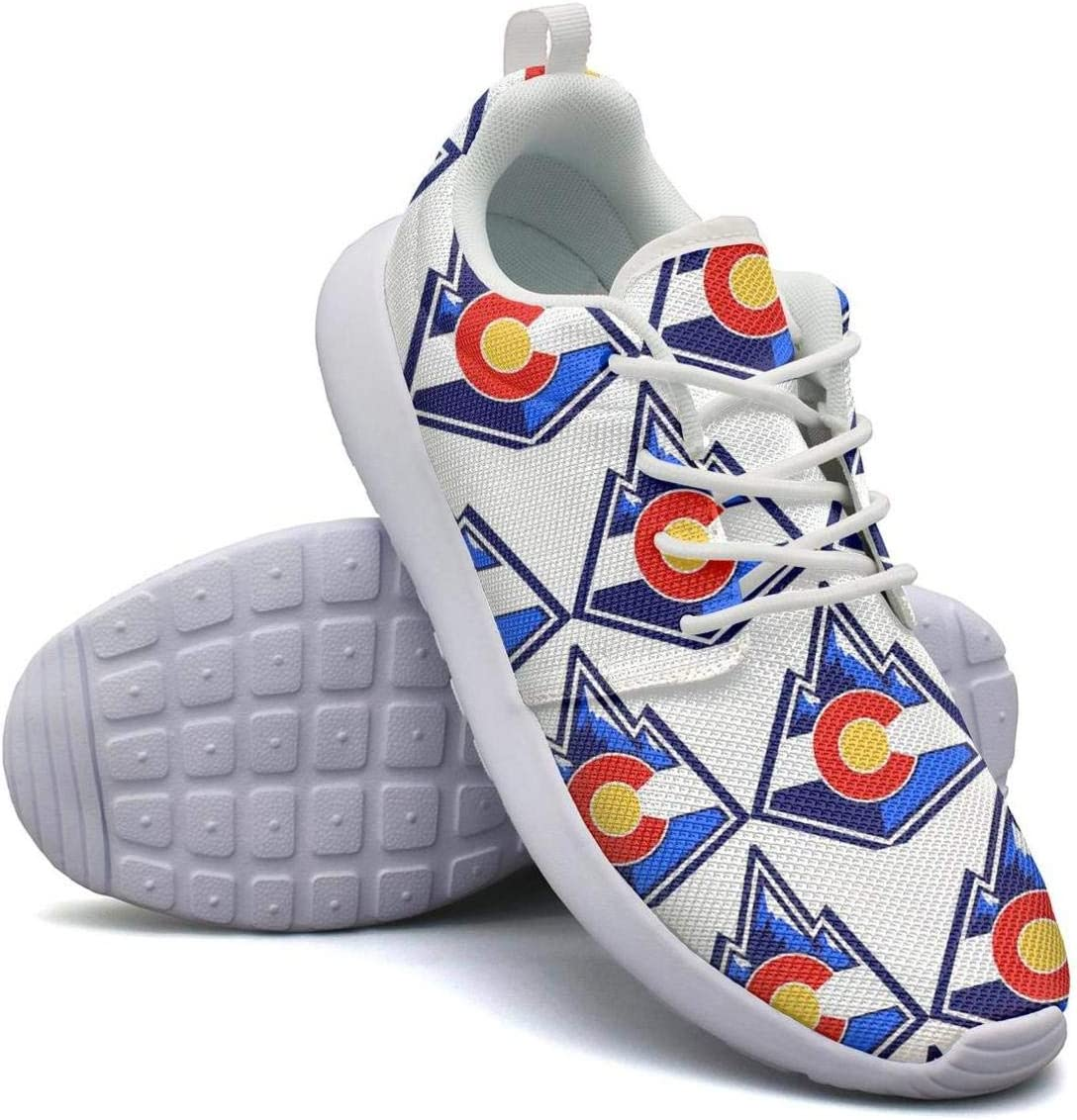 VXCVF Colorado Flag Womens Lace-up Sneaker Shock Absorption Cool