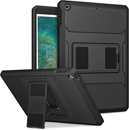 For iPad 9.7 6th 2018 2017 Rugged Luxury Shockproof Stand Case Heavy Duty Cover