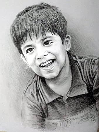 My Magic Gift Pencil Sketch Portrait A4 Amazon In Home Kitchen