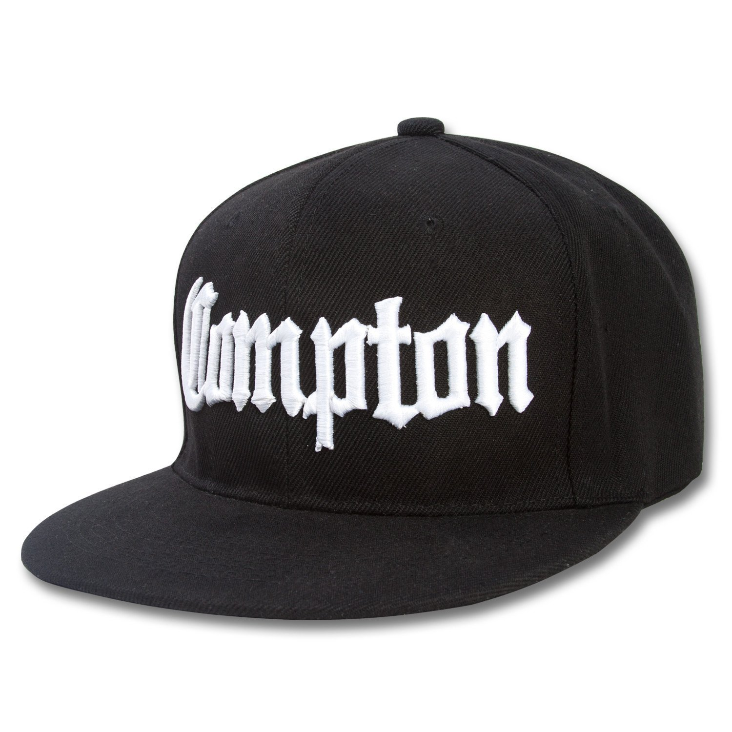14906f14870 Amazon.com  Compton Flat Bill Snapback Black Adjustable Baseball Cap   Sports   Outdoors