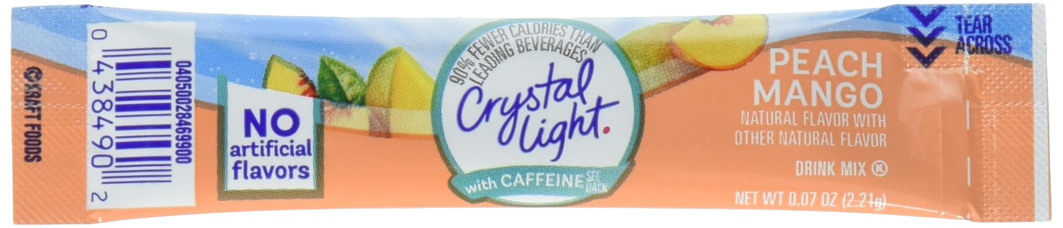 Crystal Light Energy On The Go, Peach Mango, 10-Count (Pack of 6) (Packaging May Vary)