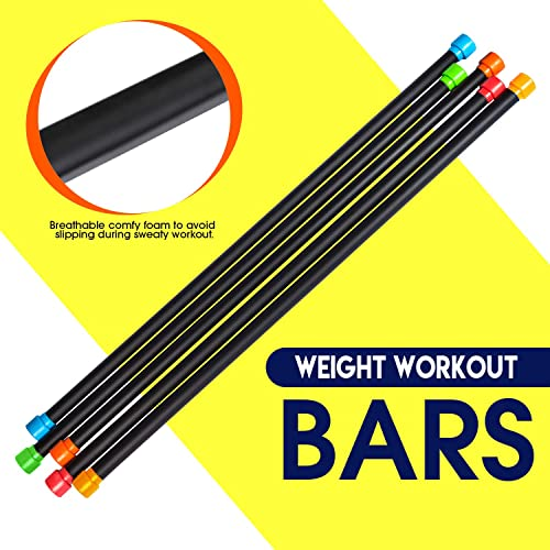 Fitness Republic Sculpting Body Balance bar Workout Fitness Stick Padded Squat bar Weight Lifting bar, Straight Weight bar