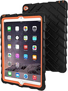 Apple iPad Air 2 Drop Tech Orange Gumdrop Cases Silicone Rugged Shock Absorbing Protective Dual Layer Cover Case