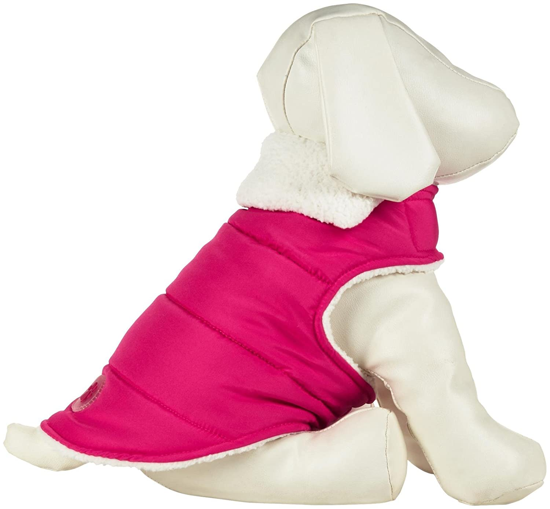 Wagby Shearling Wrap Jacket Hot Pink L