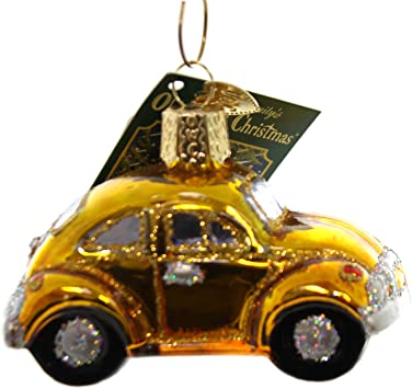 Amazon.com: Old World de Navidad Buggy vidrio Coche Love Bug ...
