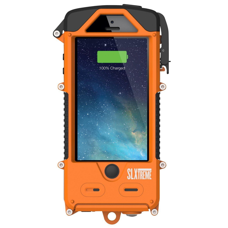 SnowLizard SLXtreme Case for iPhone 5, Signal Orange by Otis Technology