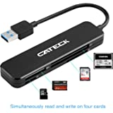 Cateck USB 3.0 4-Slot Card Reader for SDXC, SDHC, SD, CF, High-Speed CF (UDMA), MS, Micro SDXC, Micro SDHC, Micro SD Cards