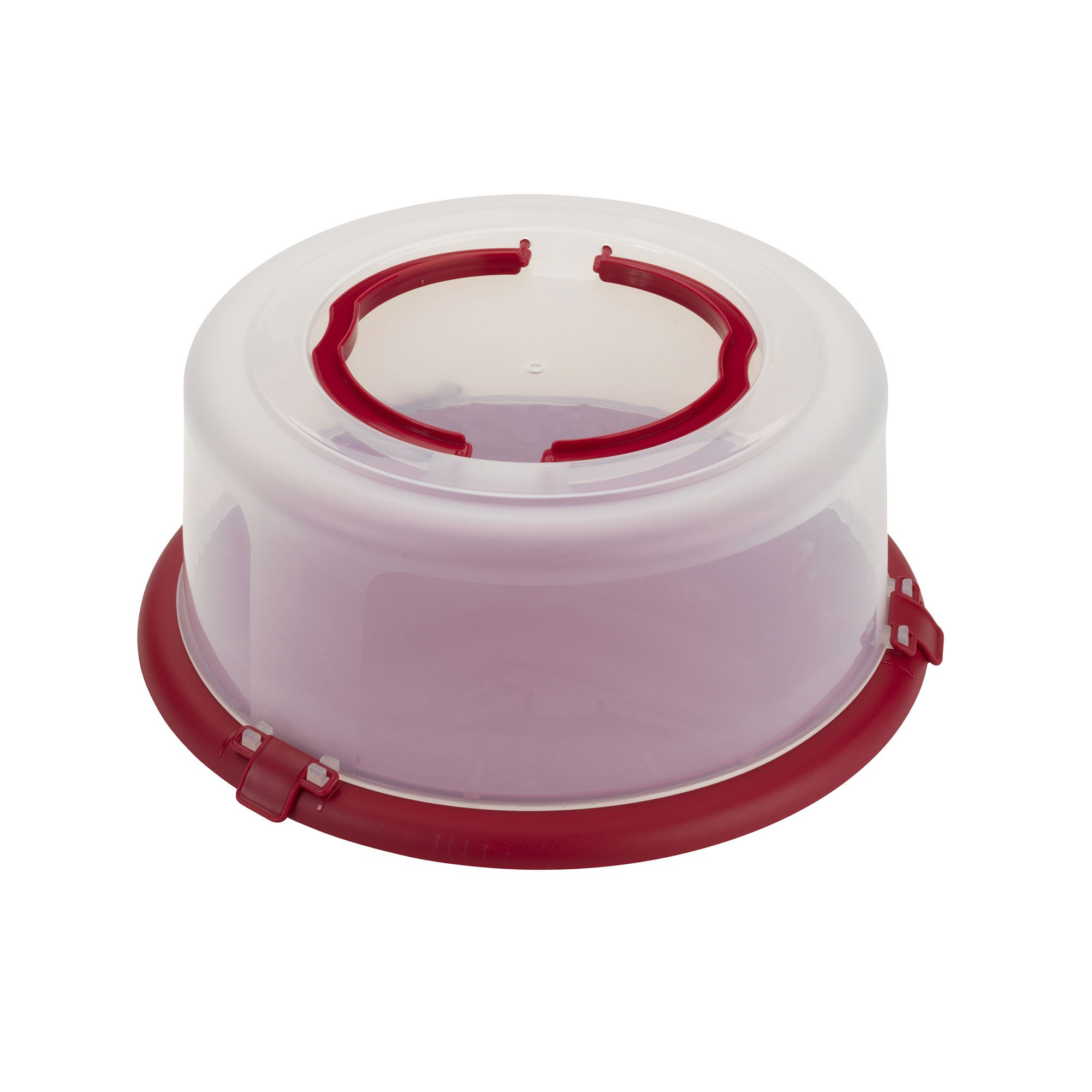 Good Cook Bake-n-Take Round Cake Carrier with Handle, 12'', Red