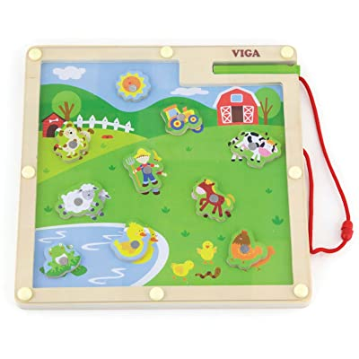 Viga Toys - 50193 - Loisirs Créatifs - Jeu Magnétique - Ferme
