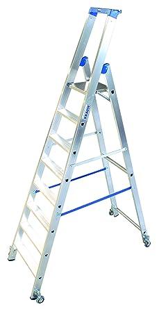 LDC654 Escalera de Tijera Standard con Ruedas, 8 Peldaño, 3.9 m Altura de Escalera, 2.5 m Altura Escalera, 1.9 m Altura Último Peldaño: Amazon.es: Industria, empresas y ciencia