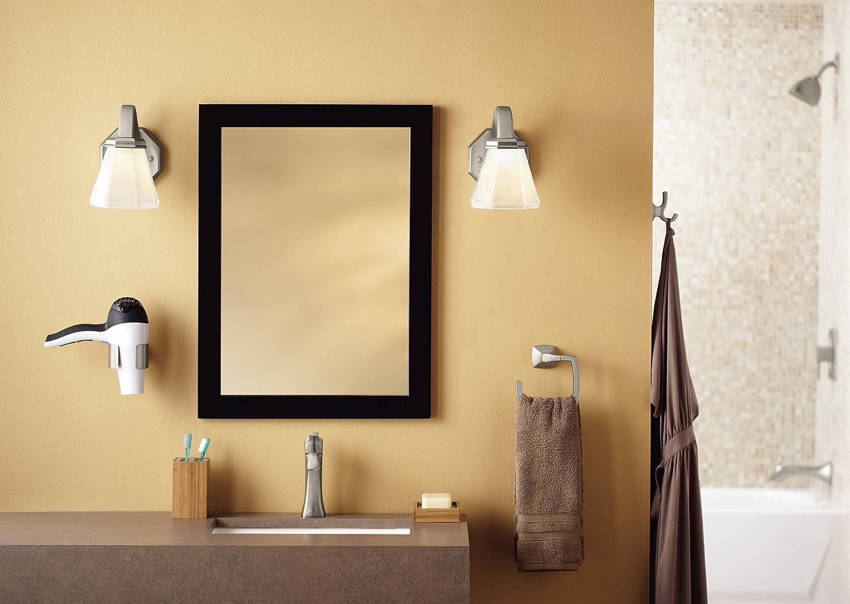Ipad bathroom wall mount - Moen Yb5186bn Voss Bathroom Towel Ring Brushed Nickel Moen Voss Brushed Nickel Amazon Com