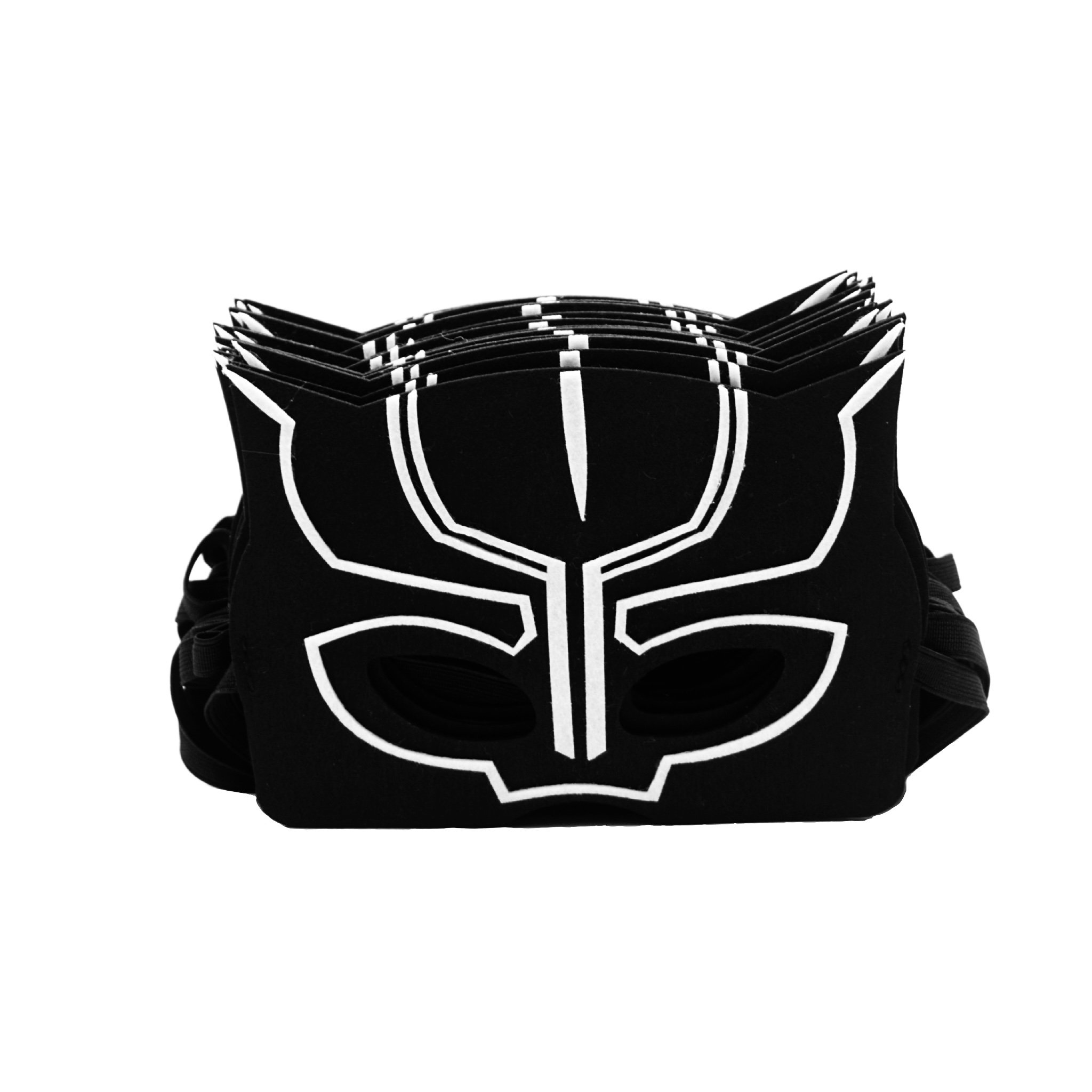 Black Panther Masks for Kids | 18 Pieces | Party Supplies & Favors for Children or Boys Aged 3+