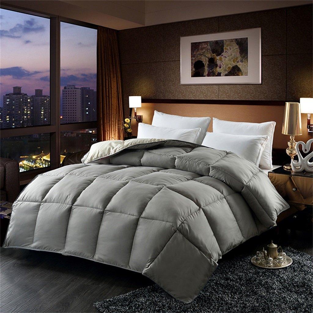 Herbst & Winter Weich und Komfortabel Verdickung Quilt Keep Warm Single Double Quilts Klimaanlage Quilts (Farbe   Grau, größe   150  200cm 2.5kg)