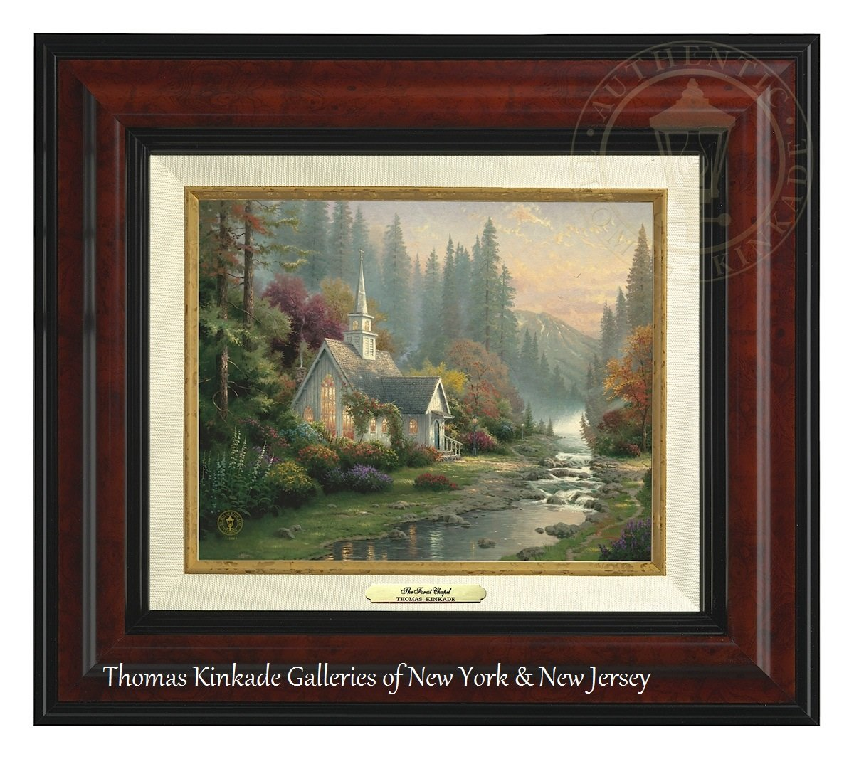 Thomas Kinkade The Forest Chapel 8'' x 10'' Canvas Classic (Burl) by Thomas Kinkade