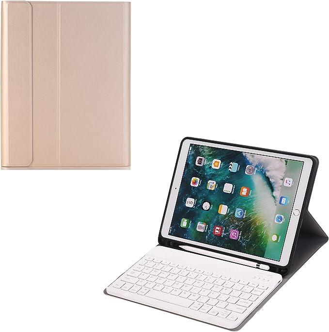 J&H - Funda con Teclado para iPad Pro 10,5 (Piel sintética ...