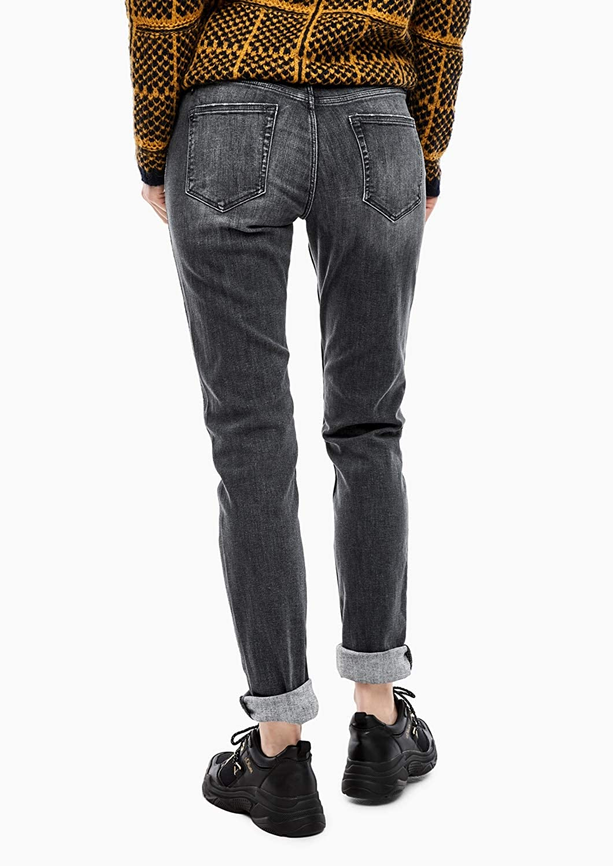 s.Oliver Damen Shape Slim: Denim mit Glitzer-Paspel Grau (Grey/Black Denim Stretch 97z6)