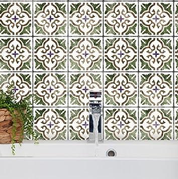 Sevilla Tile Schablone Lagige Mediterrane Mbel Boden Wand Fliesen Schablone.