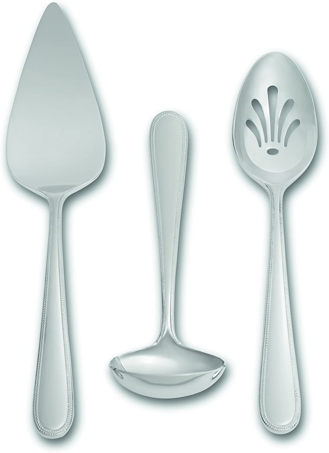 Amazon Com Wedgwood 3 Vera Infinity Piece Serving Set Silver Tableware Kitchen Dining