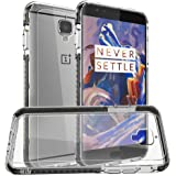 OnePlus 3T / OnePlus 3 Case, Orzly Fusion Bumper Case Cover Shell for OnePlus THREE (Original 2016 Model & 3T Version) Protective Hard Cover with Impact Absorbing BLACK Rubber Rim & Clear Back Panel
