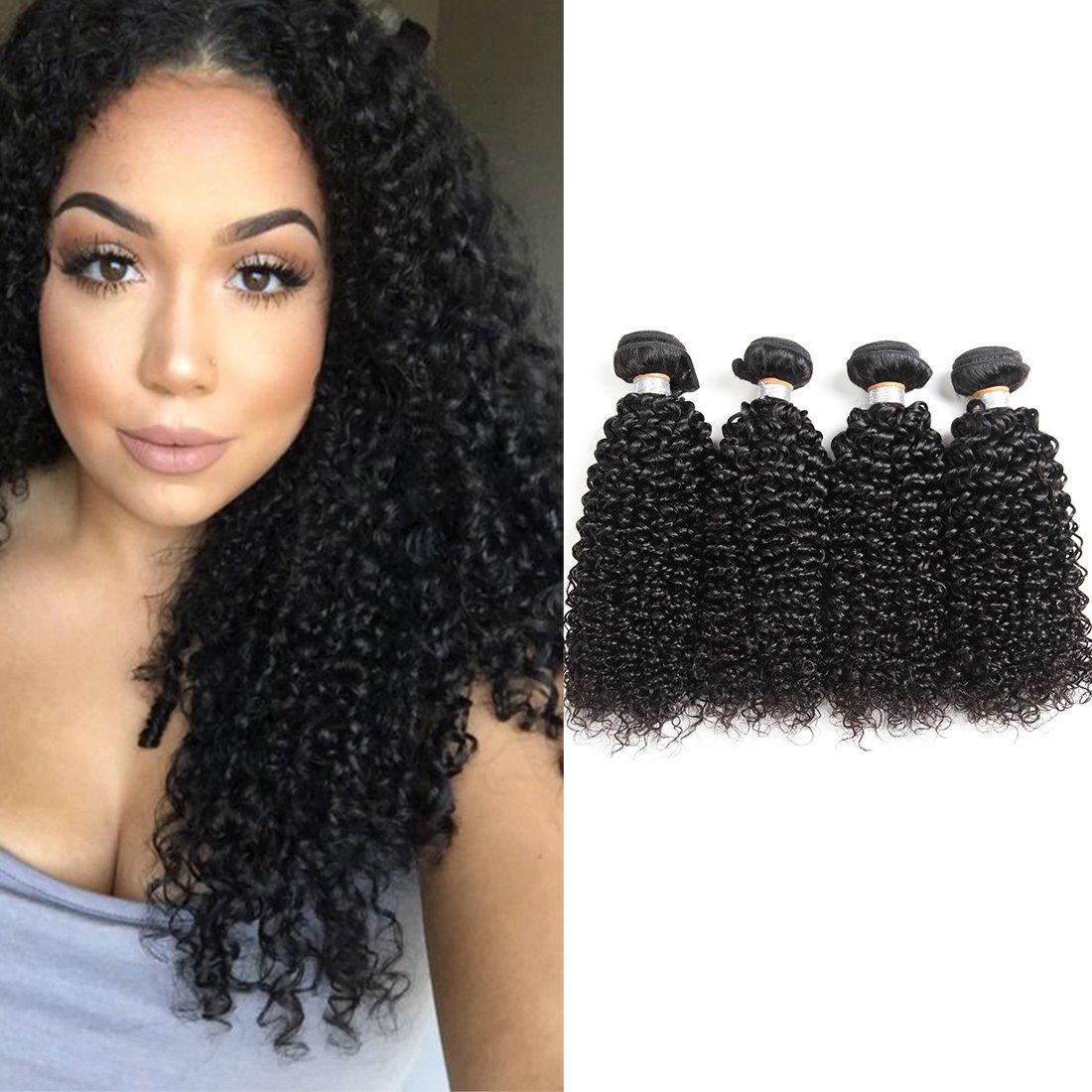 Amazon 7a 100 Kinky Curly Hair Bundles Virgin Brazilian Human
