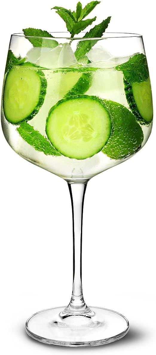 Gin Vasos de cóctel 26oz/700 ML – Set de 6 – Copa de Balon Gin ...