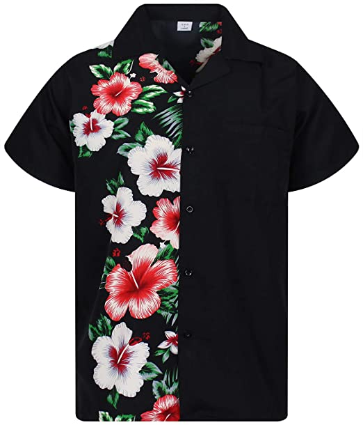 4fc6a5ca0 V.H.O Funky Hawaiian Shirt Men Short-Sleeve Front-Pocket Wedding Chic  Multiple Colors