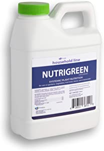 NutriGreen Concentrate Systemic Plant Nutrition and Foliar Fertilizer for use on Gardens, Vegetable, Fruit Trees, lawns and ornamentals. (16 Oz)