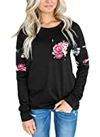 Dokotoo Womens Casual Crewneck Floral Fashion Sweatshirt Blouses And Tops