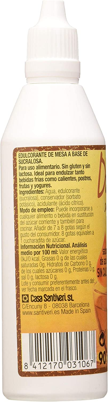 SANTIVERI Dulzina (Sucralosa) Liquida 90 Mililitros - 500 ...