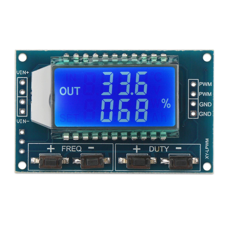 DROK® 5~30ma LCD Signal Generator Board Adjustable Pulse Frequency Duty Cycle DC 3.3~30V Digital Display PWM Modulator Square/Rectangular Wave Signal Generator DIY Kit DEOK 2001709005