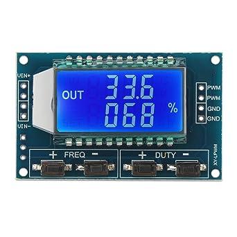 DROK® 5~30ma LCD Signal Generator Board Regulador de frecuencia de pulso ajustable DC