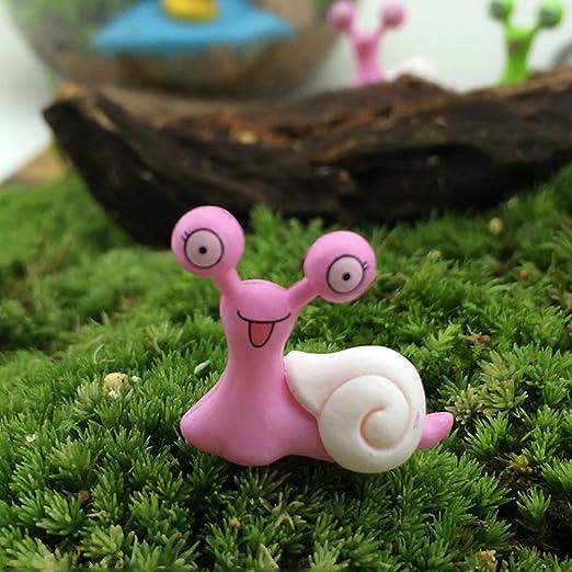 Mini caracoles de jardín, adornos de casa de muñecas de jardín para decoración de patio (2 cm x 2 cm): Amazon.es: Hogar