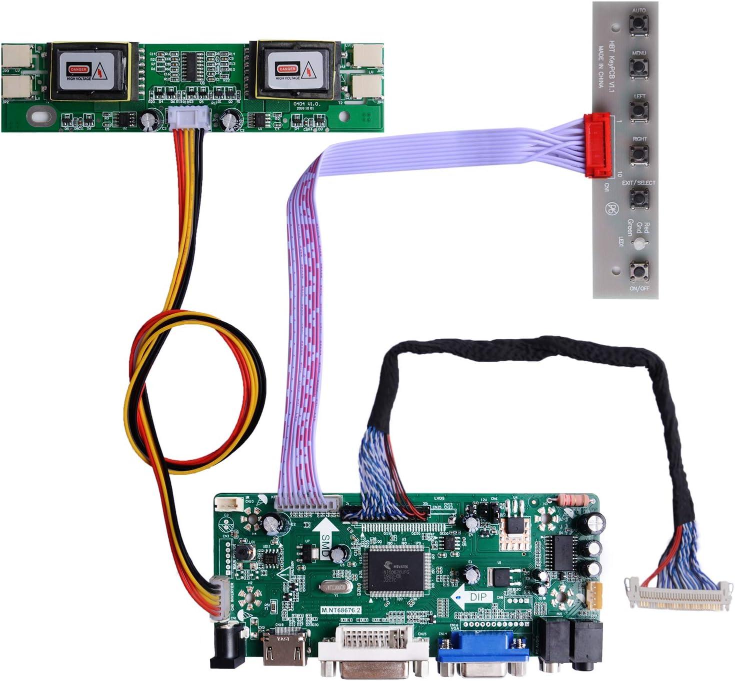 Placa LCD para HSD190MEN4 M170EN06 17 19 1280x1024 4CCFL
