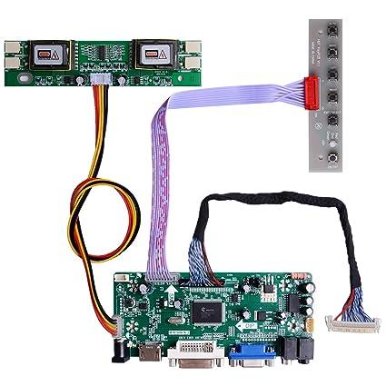 HDMI+VGA+DVI+Audio Input LCD Controller Board For HSD190MEN4 M170EN06 17 19 1280x1024 4CCFL 30Pins LCD Panel