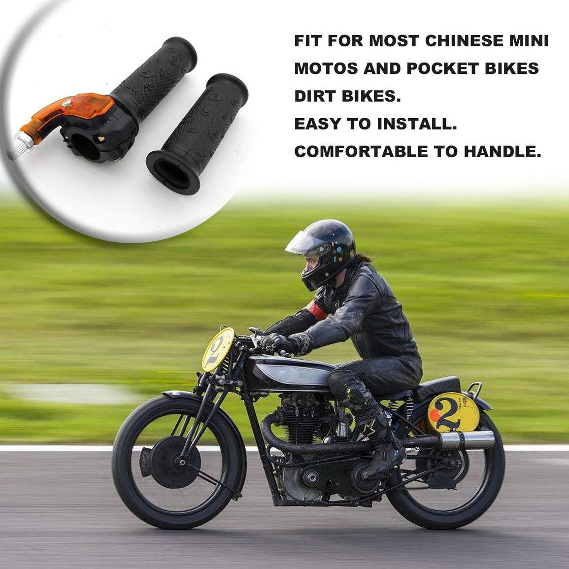 Griff Gasgriff Klemme 49cc Pocket Bike Mini Moto Quads Twist Drossel-Gaspedal Grip leoboone 22mm 7//8