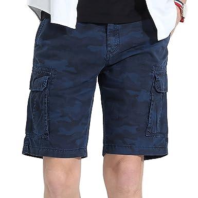 ca0ec97e99 Men's Camo Cargo Shorts Cotton Casual Outdoor Beach Work Slim Fit Loose  Travel Construction Hiking Military