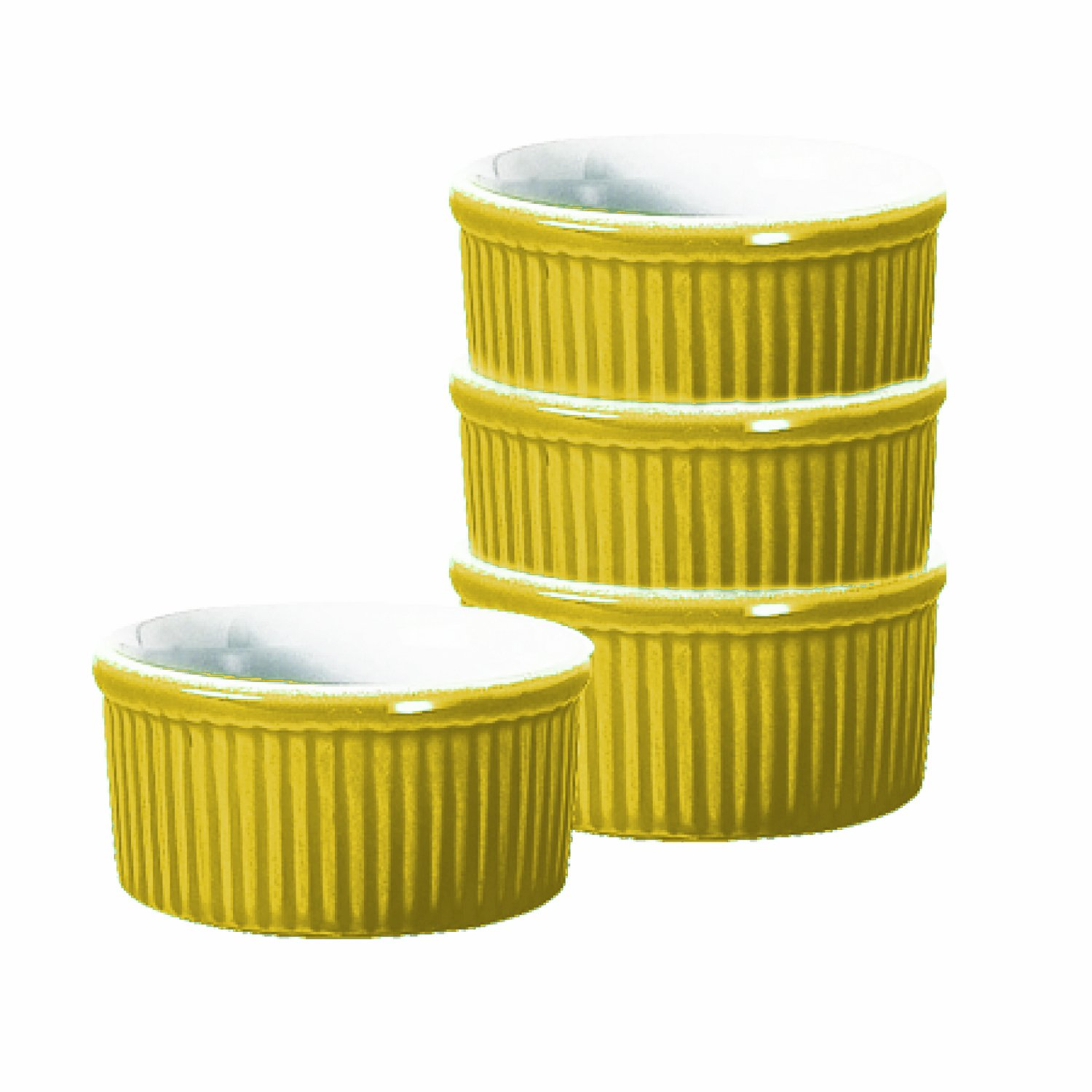 Emile Henry 6-Ounce Ramekin, Set of 4, Citron Yellow