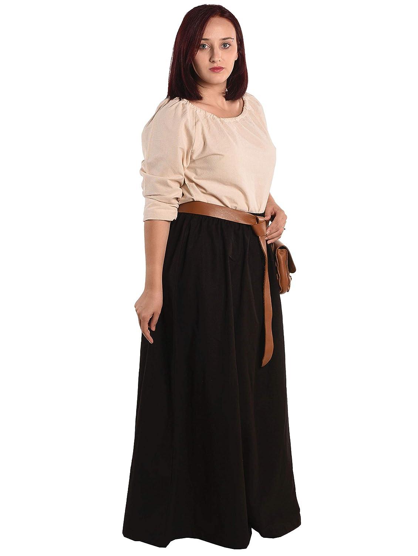 Amazon.com: Isolde - Falda y blusa medieval para mujer: Clothing