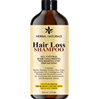 Herbal Naturals Hair Loss Shampoo - Infused with Biotin, Rosemary Oil, Natural Ingredients...