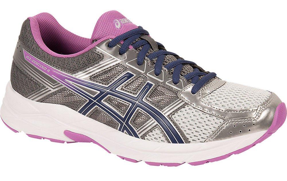 ASICS Women's Gel-Contend 4 Running Shoe, Silver/Campanula/Carbon, 8 M US