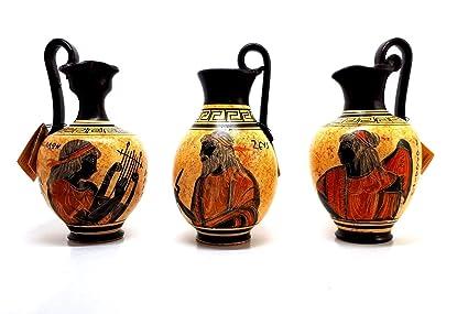 Amazon Set 3 Vases Greek Ceramic Jar Vase Pot Painting God