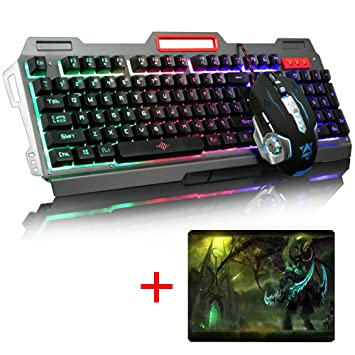 urchoiceltd® 2016 Ajazz X5 + Rainbow retroiluminado teclado Gaming + 800/1200/1600