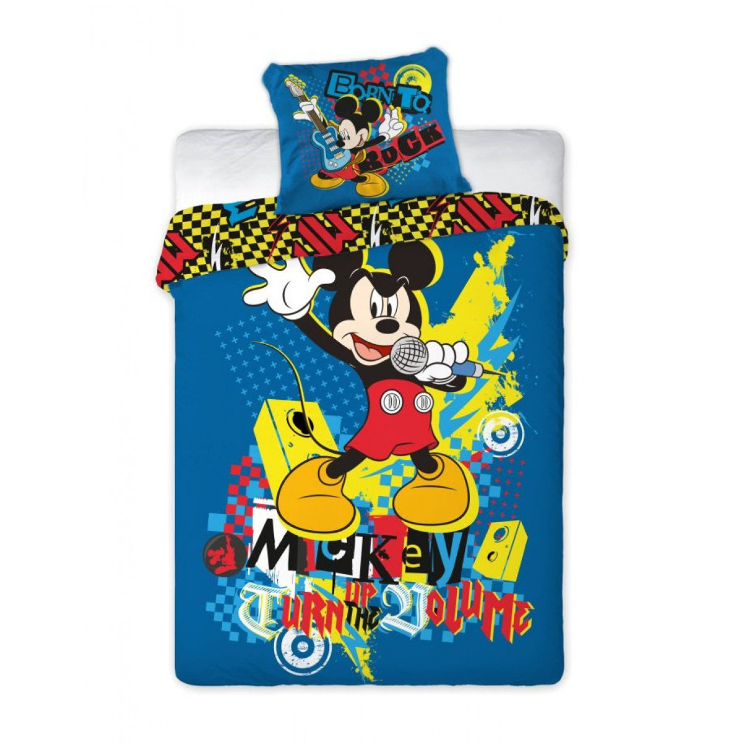 disney mickey mouse micky maus bettw sche 160x200 neu. Black Bedroom Furniture Sets. Home Design Ideas