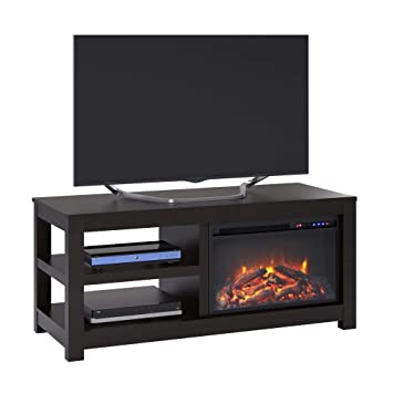 Amazon Com Ameriwood Home Parsons Electric Fireplace Tv Stand For