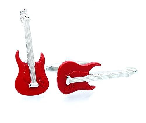 3D rojo mancuernas de la guitarra eléctrica Rock n Roll música ...