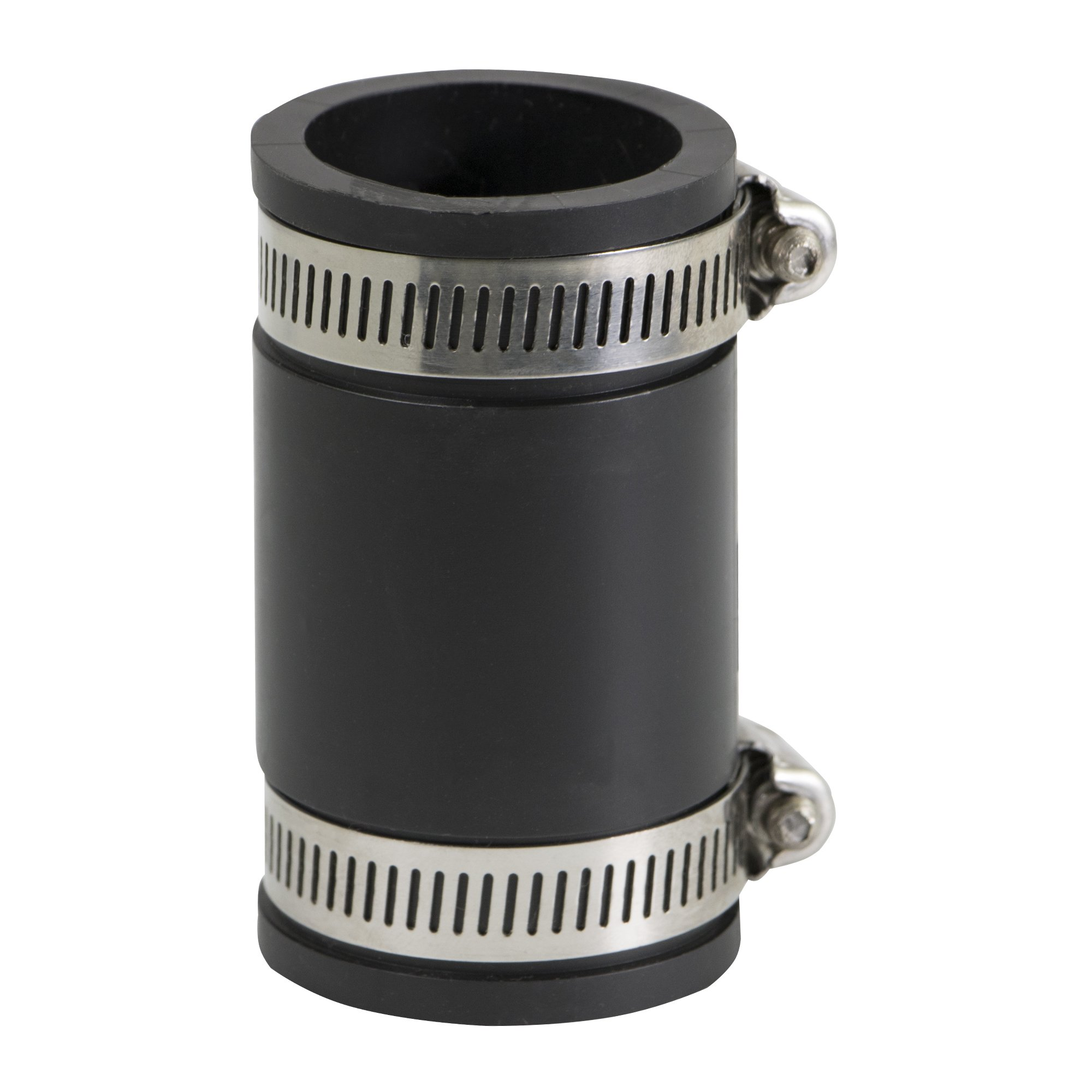 EVERCONNECT 4822x10 Flexible PVC Coupling with Stainless Steel clamps 1'', Black (pack of 10)